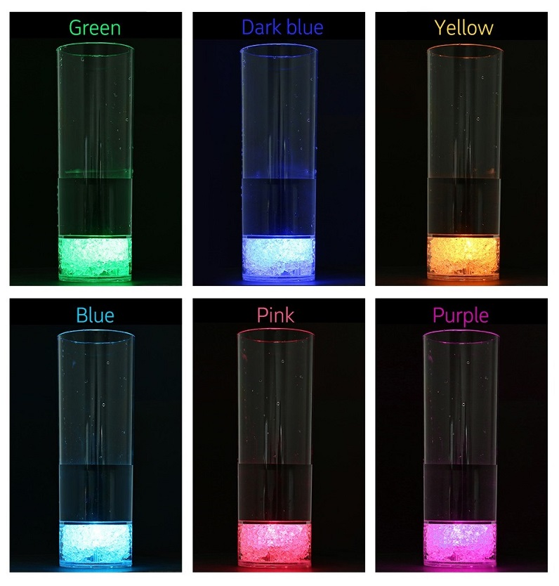 led bar glass colors