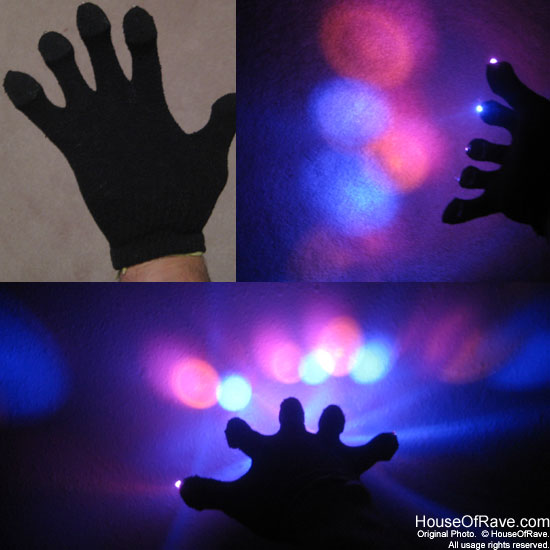 Rave Gloves Black