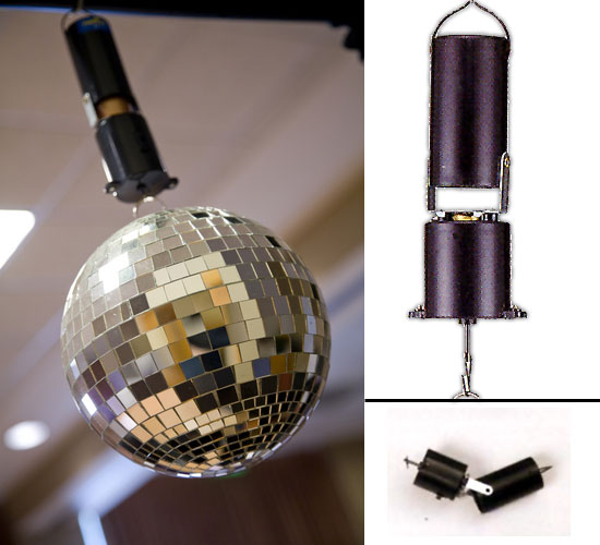 Battery Operated Motor For Use With Mirror Balls Up To 12