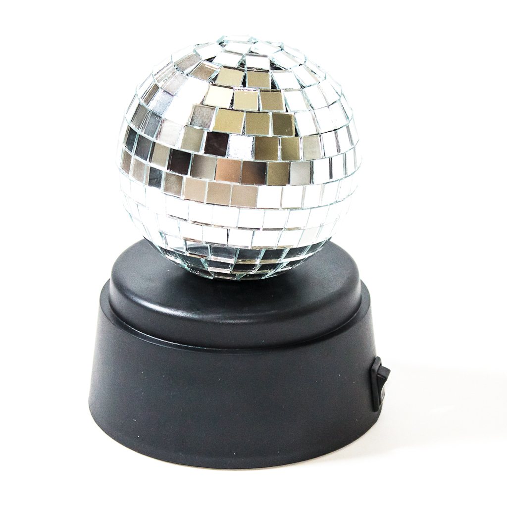 Spinning Disco Mirror Ball 3 Requires X Aa Batteries Not Included