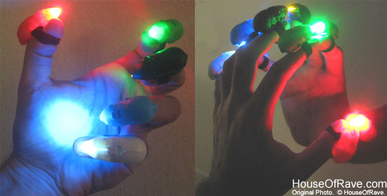 Finger Light Shows To create a light show!