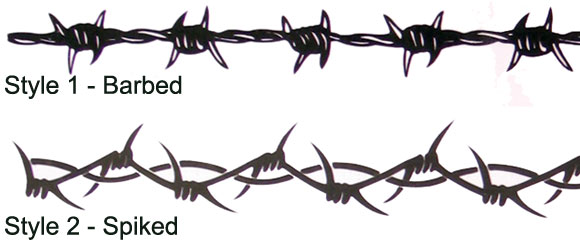 barbed wire tattoo designs. Barbed Wire Tattoos and Tattoo