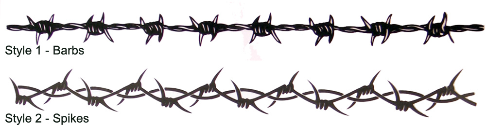 Temporary Barbed Wire Armband Tattoos Design
